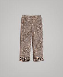 Animal print crêpe trousers Mixed Animal Print Woman 191TP2703-0S