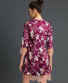 Abito jacquard a fiori con pizzo Stampa Fiori Purple Red Donna 192LI25FF-03