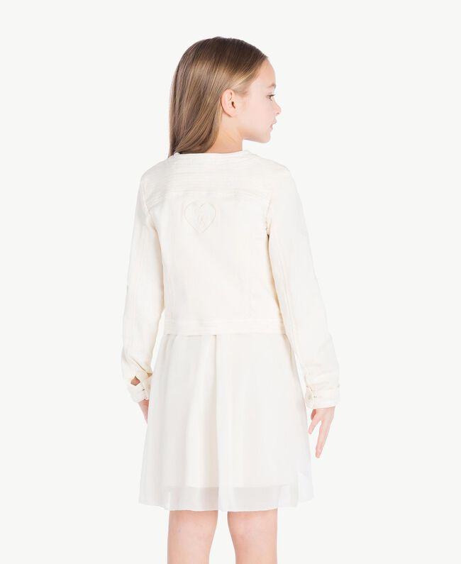 Mandarin collar jacket Pale Cream Child GS82CN-04