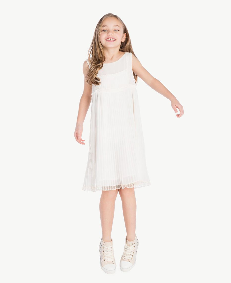 Kleid mit Plissee Chantily Kind GS8LDP-02