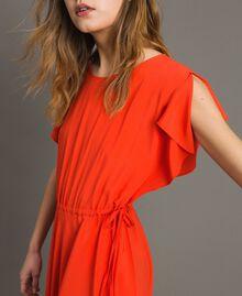 Silk blend long dress Granadine Red Woman 191TT2079-04
