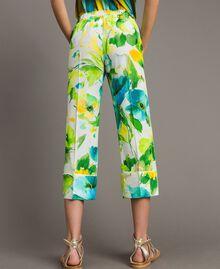 Pantalon en marocaine à imprimé floral Imprimé Jardin Noir Femme 191TT2471-05