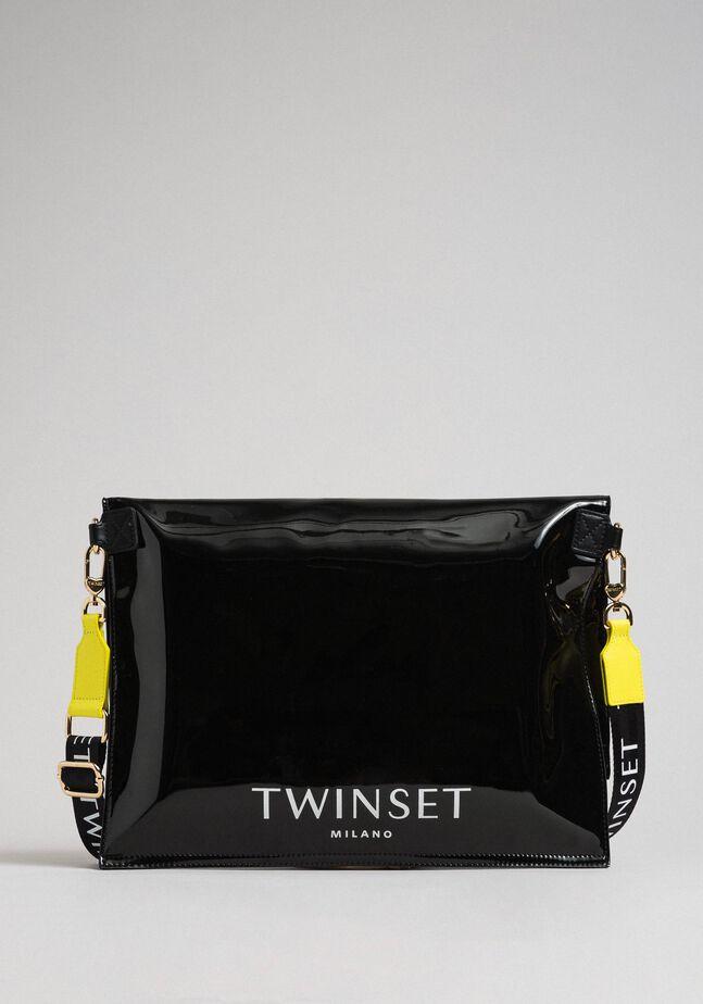 Grand sac cabas repliable en similicuir