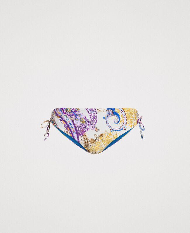 "Paisley print bikini bottom ""Milkyway"" Beige / Paisley Print Woman 191LMMS99-01"