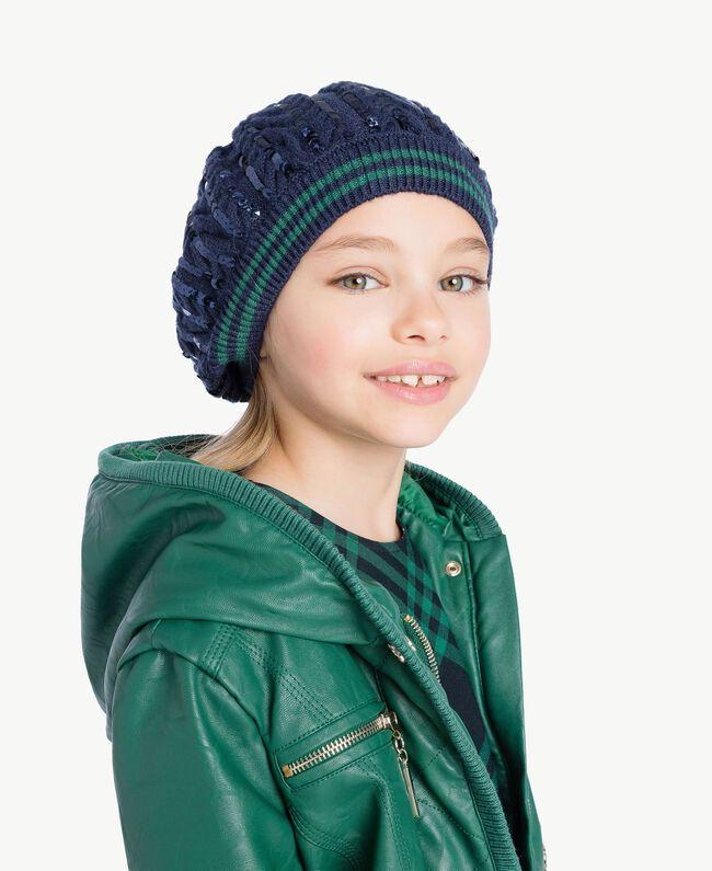 Cable beret Blue Night GA7HA1-02 add59a103ea