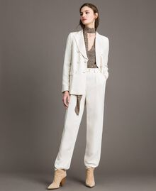 Linen blend blazer White Snow Woman 191TP2203-01