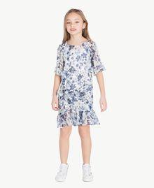 Robe imprimée Imprimé Floral Bleu Océan / Bleu Enfant GS82V2-02