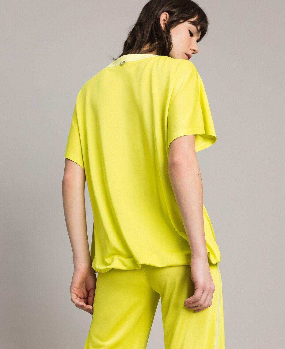 "T-shirt with drawstring ""Lemon Juice"" Yellow Woman 191LL23GG-03"