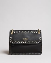 """Faux leather shoulder bag with studs """"Surreal Pink"""" Woman 191MA7141-02"""