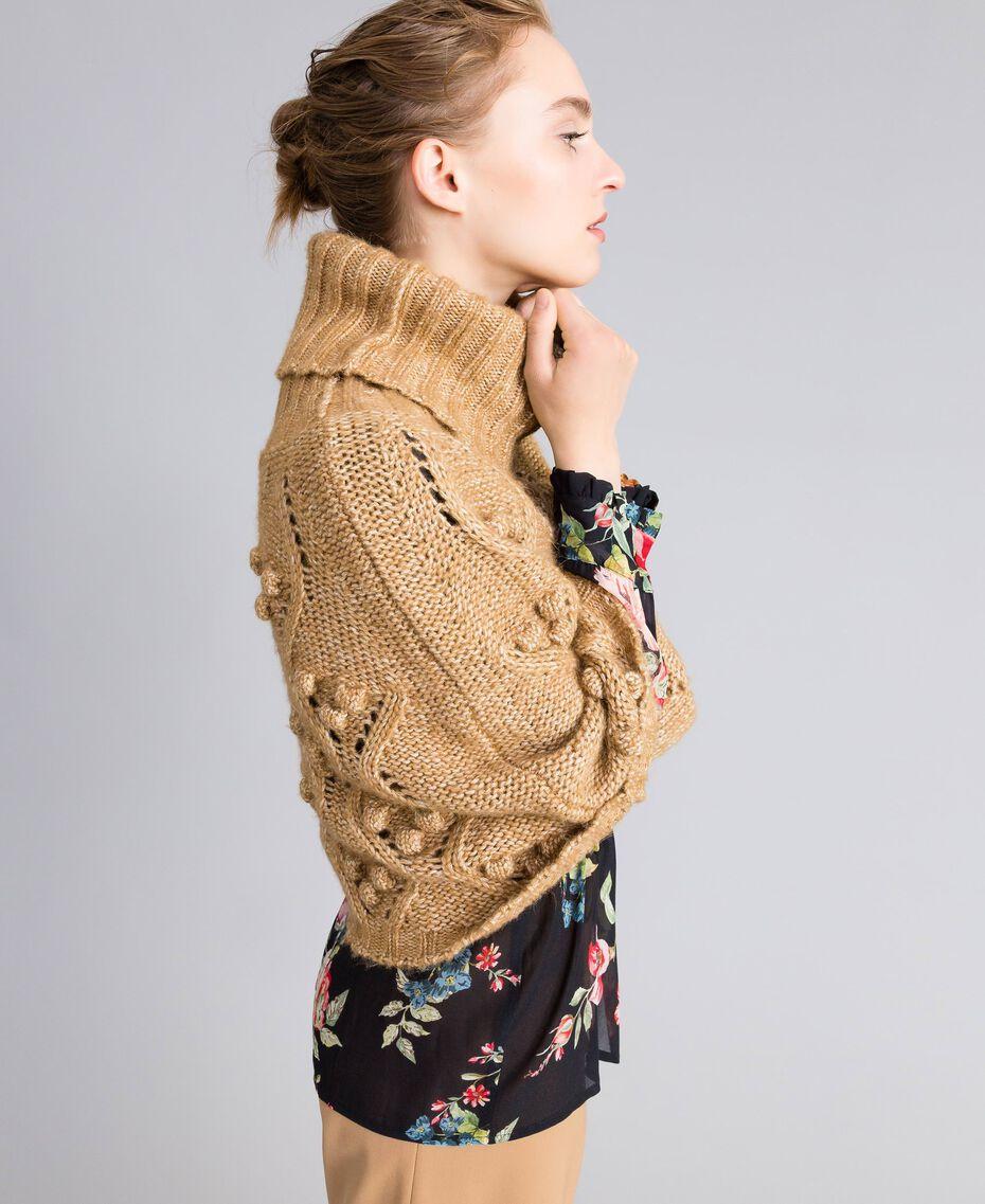 Cappa in maglia mélange Camel Donna PA83LA-02