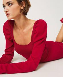 "Knit sheath dress ""Cerise"" Fuchsia Woman 202MP3055-05"