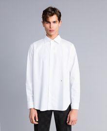 Camicia in cotone stretch Madreperla Uomo UA82EN-01