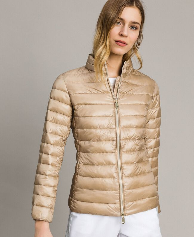 """Quilted puffer jacket """"Milkway"""" Beige Woman 191LL24CC-01"""