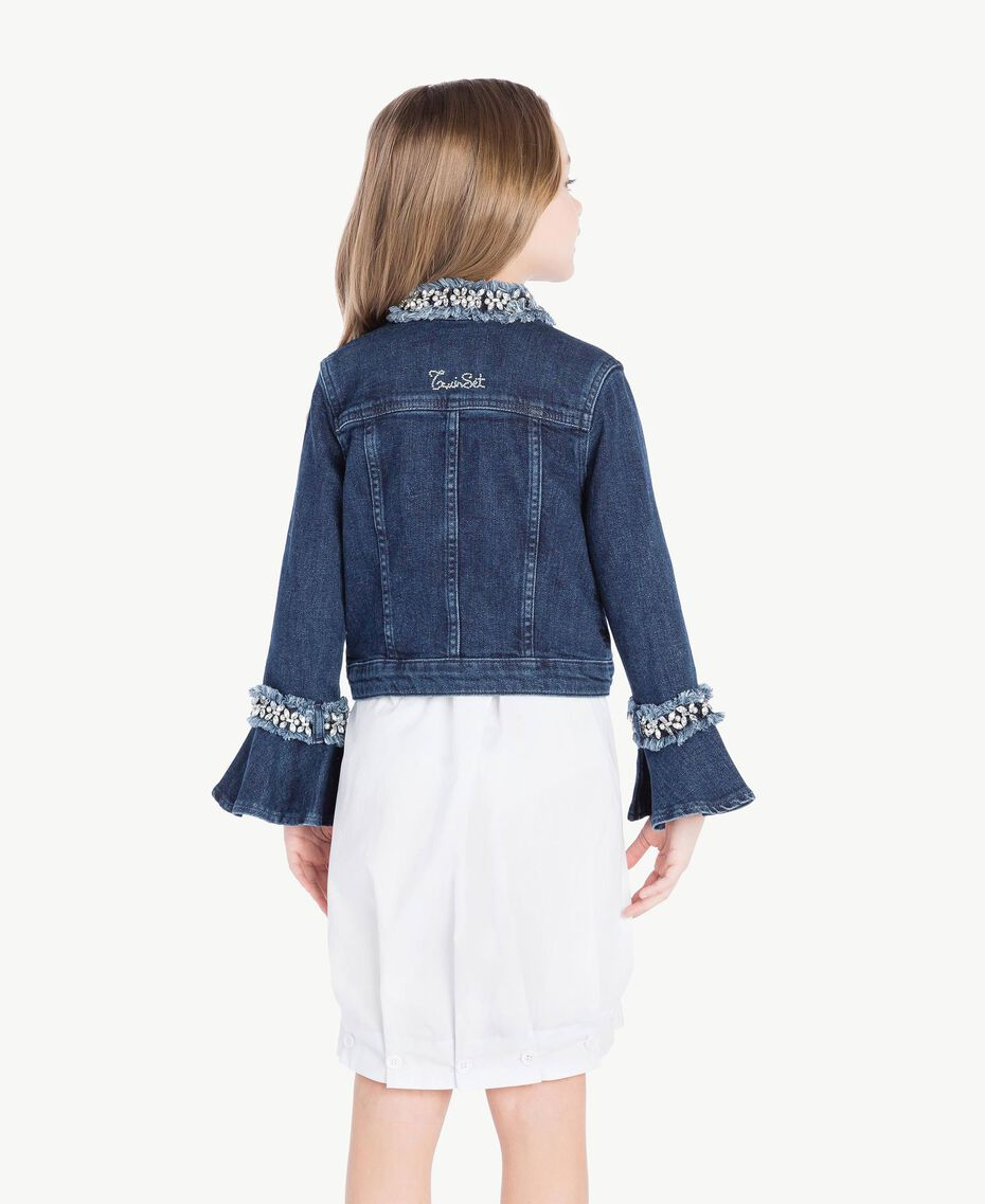 "Embroidered jacket ""Mid Denim"" Blue Child GS82W2-04"