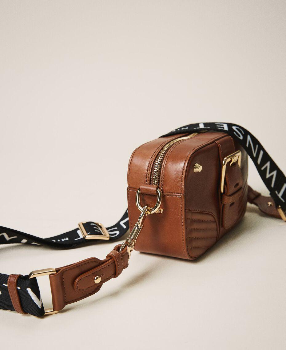 Small Rebel shoulder camera bag Leather Brown Woman 202TB723R-01