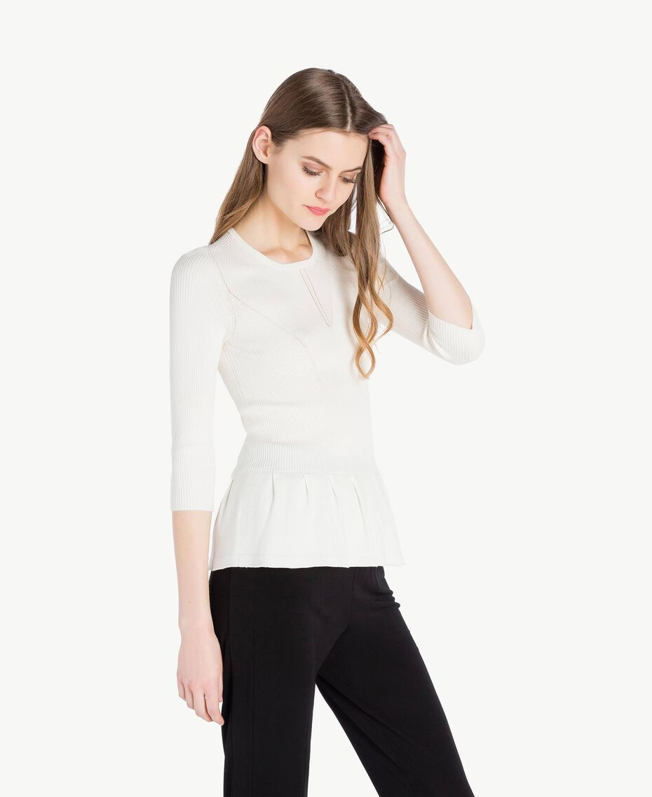 Pull rayures Ivoire Clair Femme PS8395-02