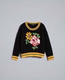 Wool blend jumper Black Woman PA83HR-0S
