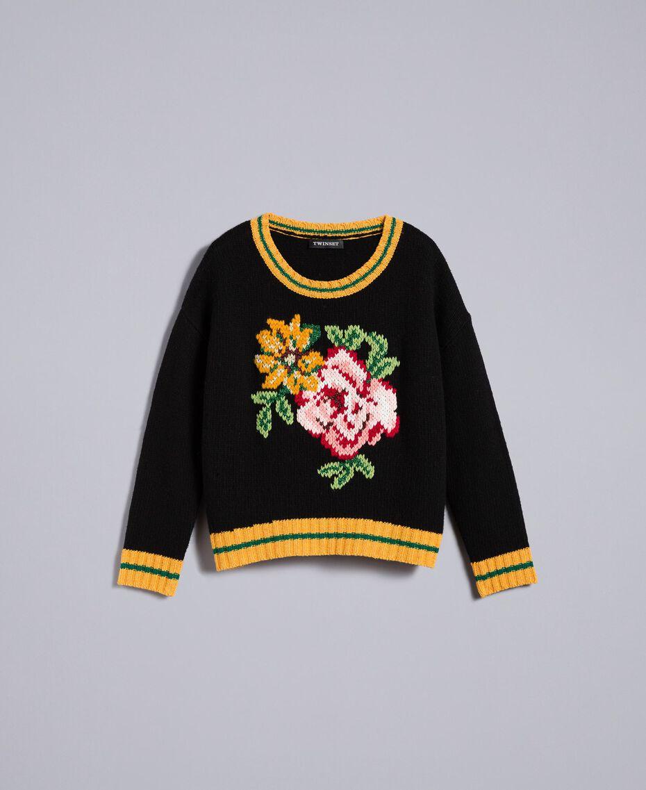 Pull en laine mélangée Noir Femme PA83HR-0S