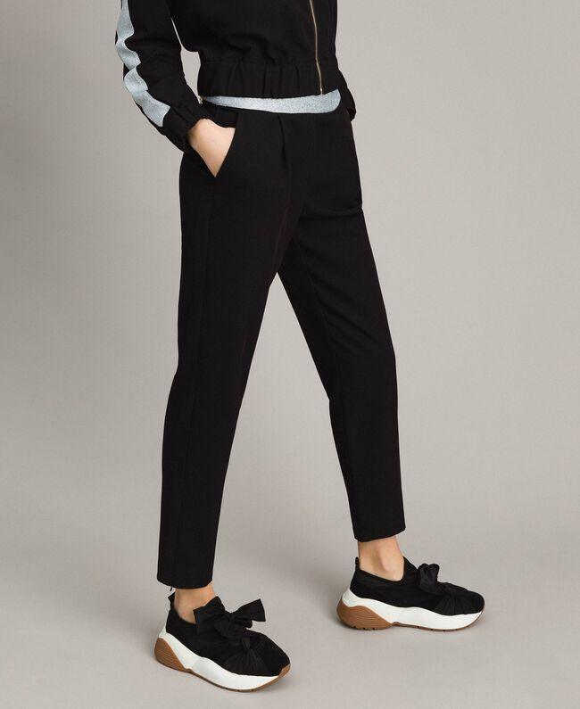 Drainpipe trousers Black Woman 191LL25AA-01