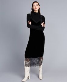 Long velvet dress Black Woman TA826N-01