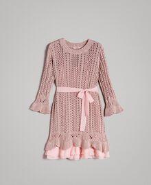 Robe en maille de lurex Lurex Rose Perle Femme 191TP3350-0S