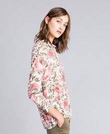 Blouse en viscose avec imprimé de roses Imprimé Fleurs «Rose Cloud» Femme JA82PN-03