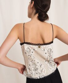Lace top with embroidery Ivory Woman 201TP2461-03