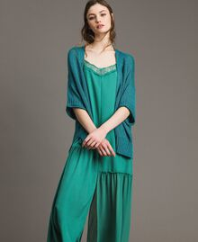 V-neck maxi cardigan Tile Blue Woman 191TT3141-04