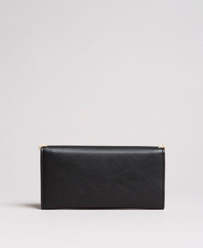 Geldbörse aus Kunstleder Schwarz Frau 191MO8094-03