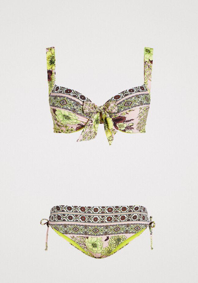 Bikini set with shawl print