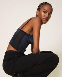 Satin bustier top Black / Black Woman 202TP6743-01