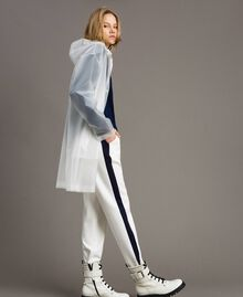 Parka antipioggia con logo Bianco Seta Opaco Donna 191TP2030-02