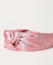 "Satin headband with rhinestones ""Rose Bloom"" Pink Child 211GJ492G-02"
