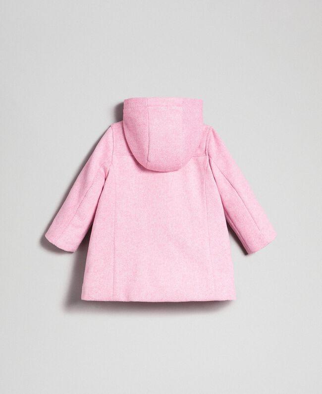 new product df5ee 66a6b Cappotto in panno con fiocchi Bambina, Rosa | TWINSET Milano