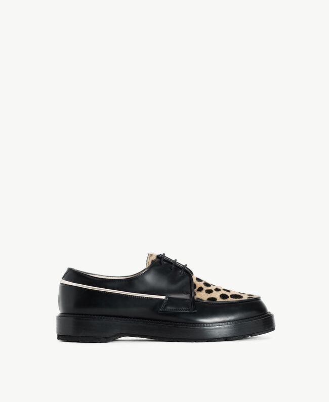 "TWINSET Animal print lace-up shoes ""Ponyskin"" Animal Print Woman CS8PBE-01"