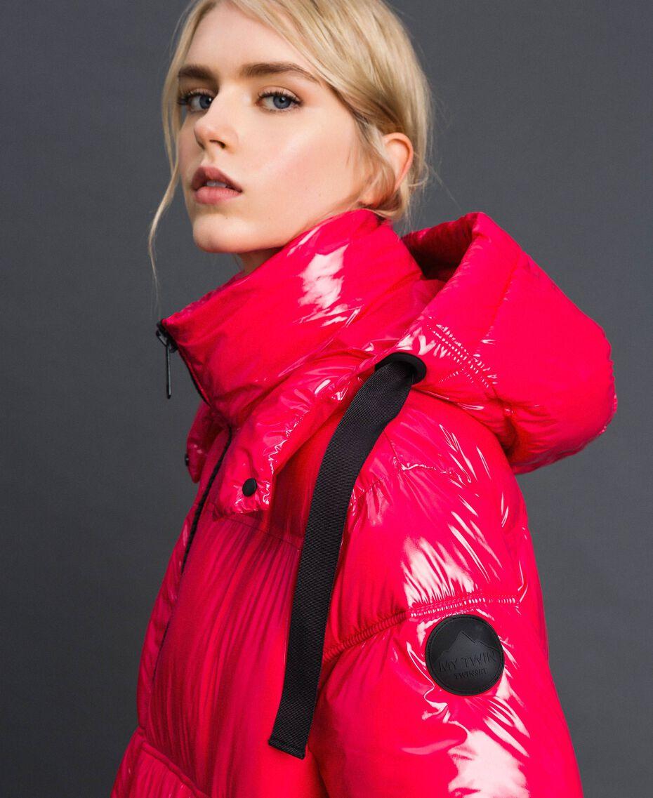 Steppmantel in Lackoptik Pink Gloss Frau 192MT2071-01