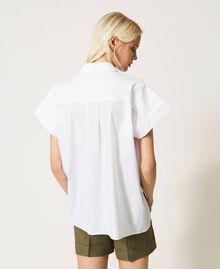 Oversize poplin shirt White Woman 211TT245E-03