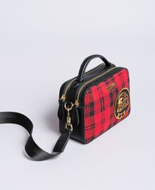 Sac à bandoulière en tartan et similicuir Imprimé Tartan Rouge Coquelicot Femme RA8TBP-01