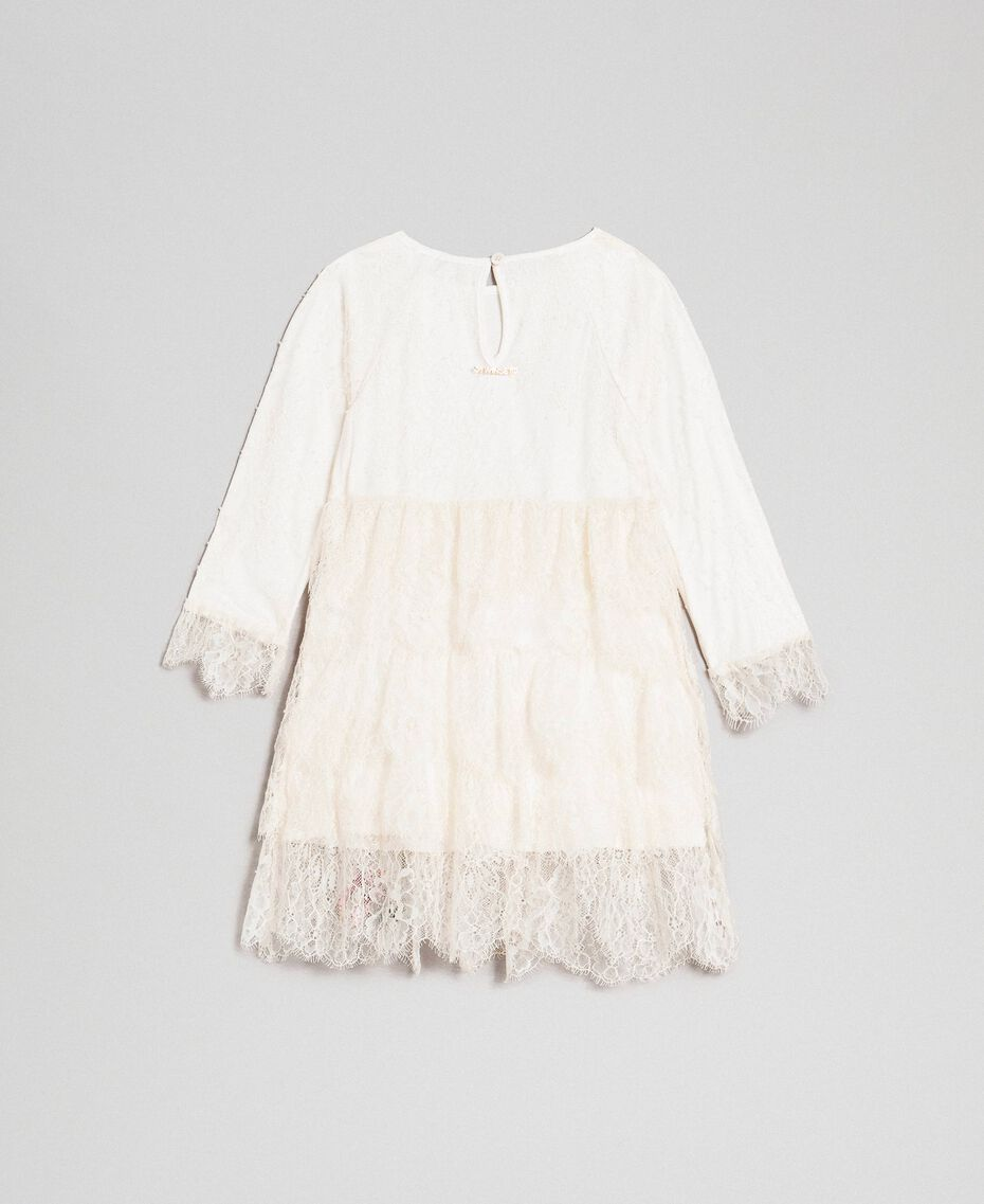 Robe en dentelle de Chantilly avec roses brodées Chantilly Enfant 192GB2670-0S