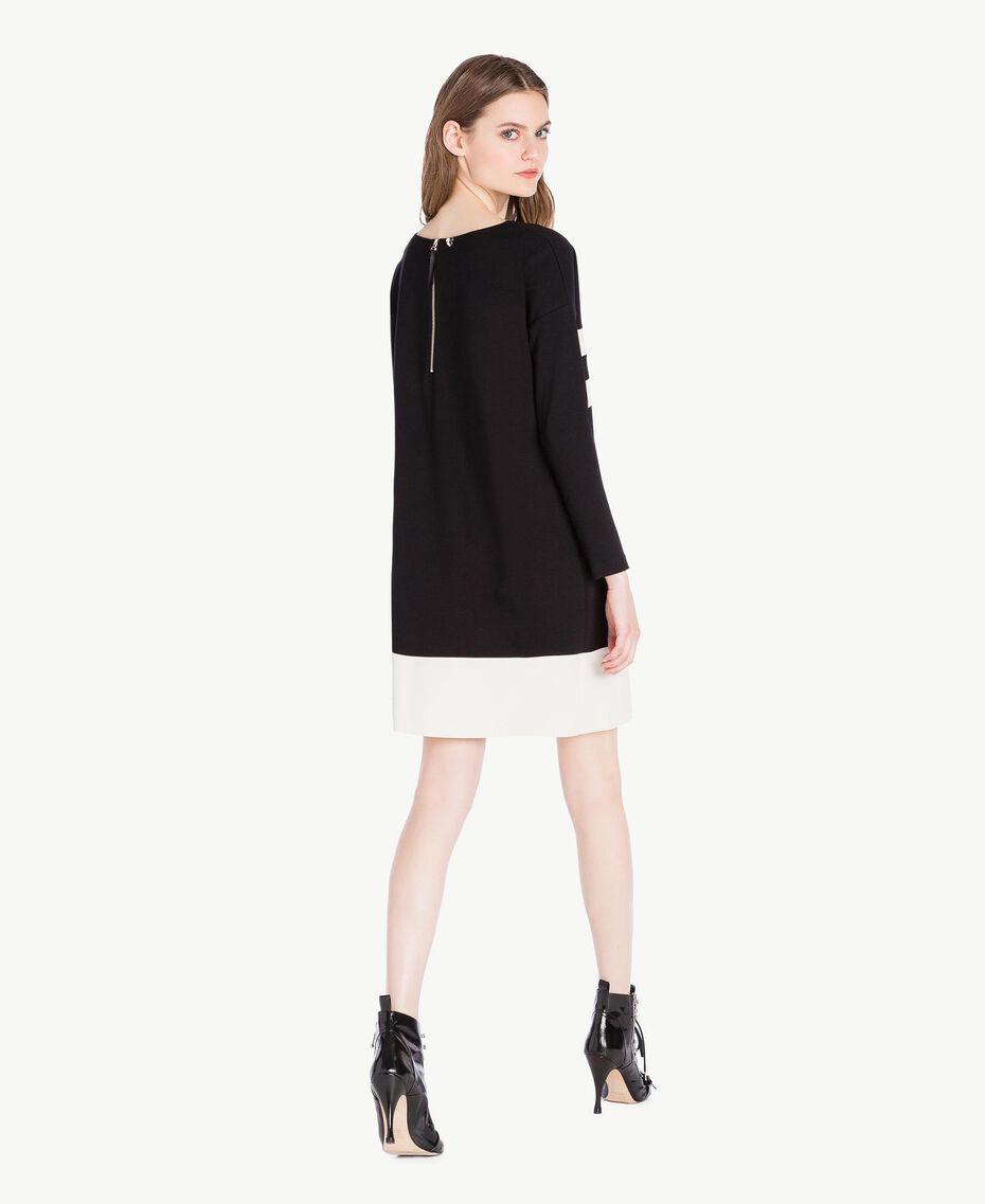 Vestido bicolor Negro Mujer PS828S-03