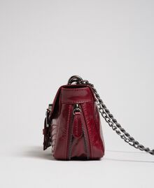 Small Rebel leather shoulder bag Beet Red Woman 192TA7237-04