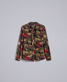 "Bluse mit Rosen-Camouflage-Print Print ""Rosen"" Camouflage Frau JA82PB-0S"