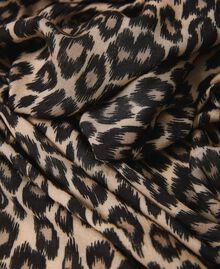 Schal mit Animalprint Animalprint Walnuss / Tabak Frau 202TO510C-03
