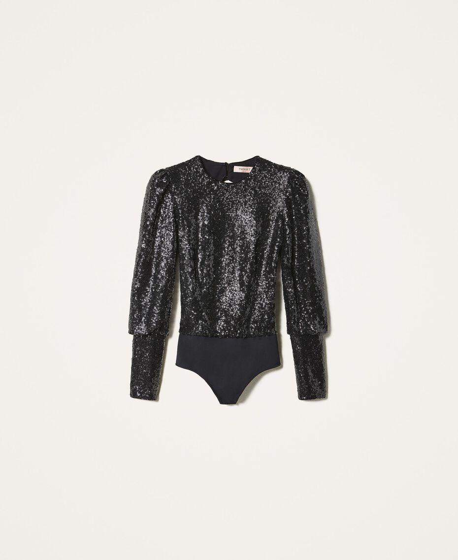 Body avec sequins Noir Femme 202TT2262-0S