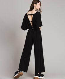Combinaison avec pantalon palazzo Noir Femme 191LB22DD-01