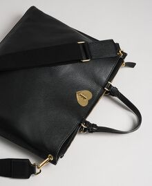 Borsa shopper grande in pelle con tracolla Nero Donna 192TO8090-02