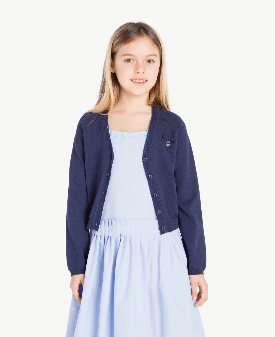 Bow cardigan Ocean Blue Child GS83AA-02