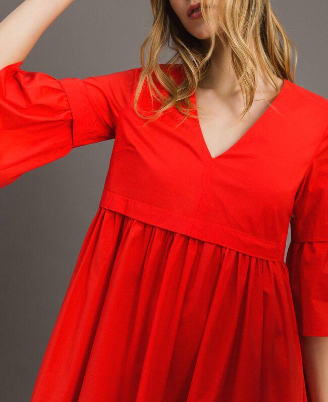 Popeline-Kleid Rote Grenadine Frau 191TT2235-04