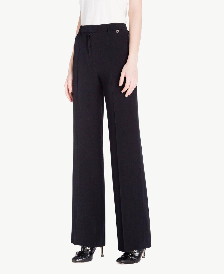 Pantalon palazzo cady Noir Femme PS829D-02