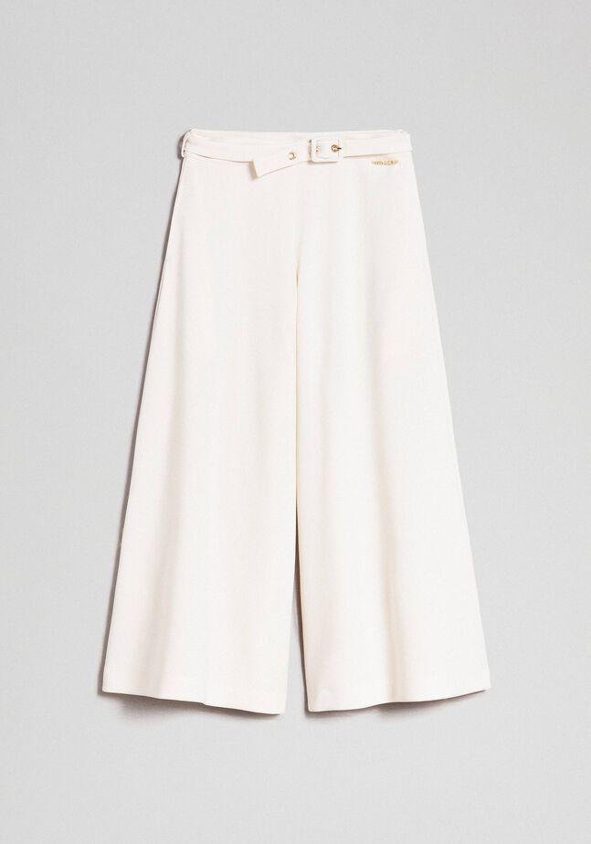 Pantalon palazzo avec ceinture